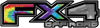 2015 Ford 4x4 Truck FX4 Off Road Style Decal Kit in Tie Dye Colors