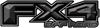 2015 Ford 4x4 Truck FX4 Off Road Style Decal Kit in Gray