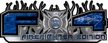2015 Ford 4x4 Truck FX4 Firefighter Edition Style Decal Kit in Blue Camouflage