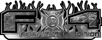 2015 Ford 4x4 Truck FX4 Firefighter Edition Style Decal Kit in Gray Camouflage