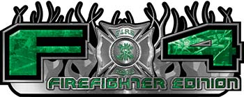 2015 Ford 4x4 Truck FX4 Firefighter Edition Style Decal Kit in Green Camouflage