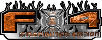 2015 Ford 4x4 Truck FX4 Firefighter Edition Style Decal Kit in Orange Camouflage