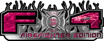 2015 Ford 4x4 Truck FX4 Firefighter Edition Style Decal Kit in Pink Camouflage