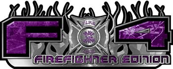 2015 Ford 4x4 Truck FX4 Firefighter Edition Style Decal Kit in Purple Camouflage