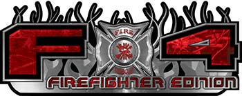 2015 Ford 4x4 Truck FX4 Firefighter Edition Style Decal Kit in Red Camouflage