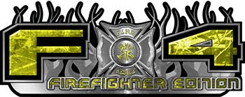 2015 Ford 4x4 Truck FX4 Firefighter Edition Style Decal Kit in Yellow Camouflage