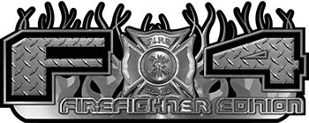 2015 Ford 4x4 Truck FX4 Firefighter Edition Style Decal Kit in Diamond Plate