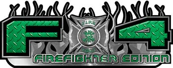 2015 Ford 4x4 Truck FX4 Firefighter Edition Style Decal Kit in Green Diamond Plate