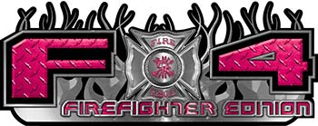 2015 Ford 4x4 Truck FX4 Firefighter Edition Style Decal Kit in Pink Diamond Plate