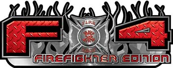 2015 Ford 4x4 Truck FX4 Firefighter Edition Style Decal Kit in Red Diamond Plate