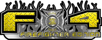2015 Ford 4x4 Truck FX4 Firefighter Edition Style Decal Kit in Yellow Diamond Plate