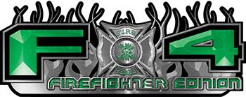 2015 Ford 4x4 Truck FX4 Firefighter Edition Style Decal Kit in Green