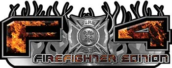 2015 Ford 4x4 Truck FX4 Firefighter Edition Style Decal Kit in Inferno Flames
