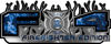 2015 Ford 4x4 Truck FX4 Firefighter Edition Style Decal Kit in Blue Inferno Flames