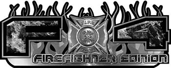 2015 Ford 4x4 Truck FX4 Firefighter Edition Style Decal Kit in Gray Inferno Flames