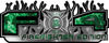 2015 Ford 4x4 Truck FX4 Firefighter Edition Style Decal Kit in Green Inferno Flames