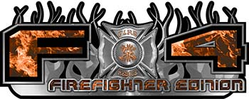 2015 Ford 4x4 Truck FX4 Firefighter Edition Style Decal Kit in Orange Inferno Flames