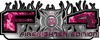 2015 Ford 4x4 Truck FX4 Firefighter Edition Style Decal Kit in Pink Inferno Flames