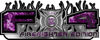2015 Ford 4x4 Truck FX4 Firefighter Edition Style Decal Kit in Purple Inferno Flames