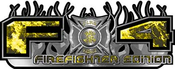 2015 Ford 4x4 Truck FX4 Firefighter Edition Style Decal Kit in Yellow Inferno Flames
