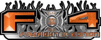 2015 Ford 4x4 Truck FX4 Firefighter Edition Style Decal Kit in Orange