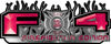 2015 Ford 4x4 Truck FX4 Firefighter Edition Style Decal Kit in Pink