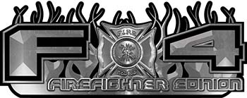 2015 Ford 4x4 Truck FX4 Firefighter Edition Style Decal Kit in Silver