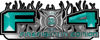 2015 Ford 4x4 Truck FX4 Firefighter Edition Style Decal Kit in Teal