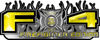 2015 Ford 4x4 Truck FX4 Firefighter Edition Style Decal Kit in Yellow