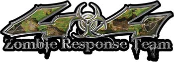 Twisted Series 4x4 Truck Zombie Response Team Decals / Stickers in Camo
