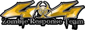 Twisted Series 4x4 Truck Zombie Response Team Decals / Stickers in Yellow