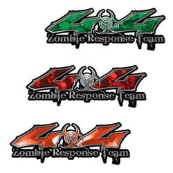 Zombie Response Team 4x4 Decals with Bio Hazard Symbol