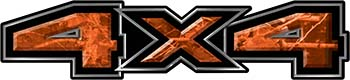 New Ford F-150 4x4 Truck Decal Kit in Camouflage Orange