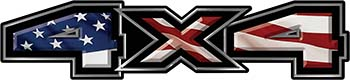 New Ford F-150 4x4 Truck Decal Kit with American Flag