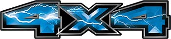 New Ford F-150 4x4 Truck Decal Kit in Lightning Blue