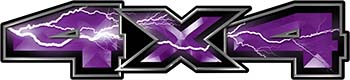 New Ford F-150 4x4 Truck Decal Kit in Lightning Purple
