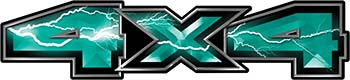 New Ford F-150 4x4 Truck Decal Kit in Lightning Teal