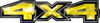 New Ford F-150 4x4 Truck Decal Kit in Lightning Yellow