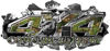 4x4 Cowgirl Edition Ripped Torn Metal Tear Truck Quad or SUV Sticker Set / Decal Kit in Camouflage