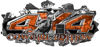 4x4 Cowgirl Edition Ripped Torn Metal Tear Truck Quad or SUV Sticker Set / Decal Kit in Orange Camouflage