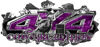 4x4 Cowgirl Edition Ripped Torn Metal Tear Truck Quad or SUV Sticker Set / Decal Kit in Purple Camouflage