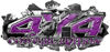 4x4 Cowgirl Edition Ripped Torn Metal Tear Truck Quad or SUV Sticker Set / Decal Kit in Purple Diamond Plate