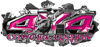 4x4 Cowgirl Edition Ripped Torn Metal Tear Truck Quad or SUV Sticker Set / Decal Kit in Pink