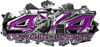 4x4 Cowgirl Edition Ripped Torn Metal Tear Truck Quad or SUV Sticker Set / Decal Kit in Purple