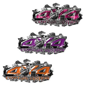 Ripped Metal 4x4 Cowgirl Edition Decals