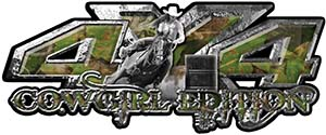 4x4 Cowgirl Edition Pickup Farm Truck Quad or SUV Sticker Set / Decal Kit in Camouflage