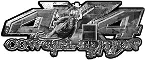 4x4 Cowgirl Edition Pickup Farm Truck Quad or SUV Sticker Set / Decal Kit in Gray Camouflage