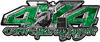 4x4 Cowgirl Edition Pickup Farm Truck Quad or SUV Sticker Set / Decal Kit in Green Camouflage