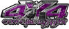 4x4 Cowgirl Edition Pickup Farm Truck Quad or SUV Sticker Set / Decal Kit in Purple Camouflage