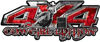 4x4 Cowgirl Edition Pickup Farm Truck Quad or SUV Sticker Set / Decal Kit in Red Camouflage